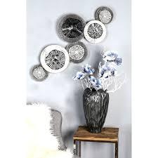 gilde wanddekoobjekt wandrelief circolo wanddeko aus metall bestehend aus 6 runden elementen wohnzimmer