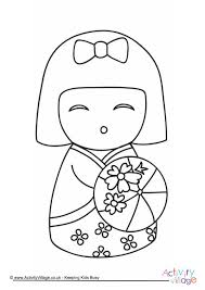 6 Explore Activity Village Topics Around The World Asia Japan Kimmidoll Coloring Pages