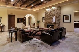 Travertine Living Room Modern With Limestone Floors Stone Fireplace On Tile