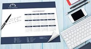 sous bureau personnalisé calendrier personnalisé 2018 laroussecreation