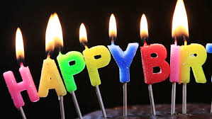 Lighted Candles A Happy Birthday Cake Candles With The Words Happy Birthday A Chocolate Cake Dolly Shot Stock Footage Video
