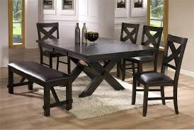 Black Kitchen Table With Bench Awesome Dining Room Sets Love
