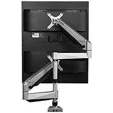 Lx Desk Mount Lcd Arm Amazon by Amazon Com Loctek Heavy Duty Gas Spring Dual Arm Desk Mounts Fits