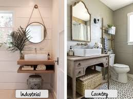 marvelous country bathroom mirrors wall home cottage rustic style