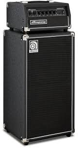 ampeg micro cl bass amp stack 100 watt head with 2x10 cabinet