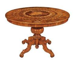 runder tisch mit intarsien 120 cm schnelle montage