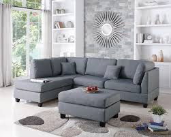 Poundex Reversible Sectional Sofa by Wayfair Ifin1021 Amazon Poundex F7606 Sectional Grey Sofa