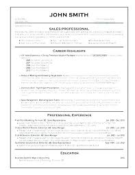 Resume Format Professional Experience Best For Sales Professionals Top Formats Freshers