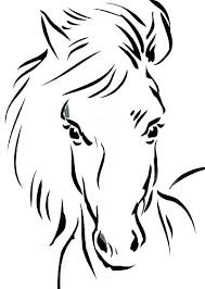 Horse Head Coloring Page Pages To Print Plus Horses Of Realistic