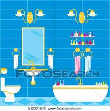 badezimmer clipart k12321642 fotosearch