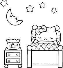 HELLO KITTY COLORING PAGES Within Hello Kitty Birthday Coloring Pages