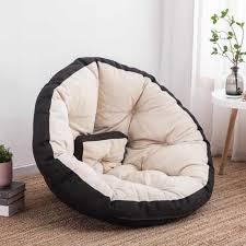 komfortable faul einzigen sitzsack liege kleine