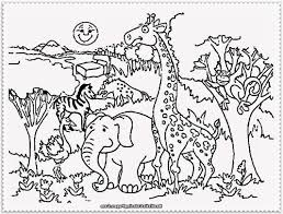 Zoo Coloring Page Pages Of Animals Cute Disney
