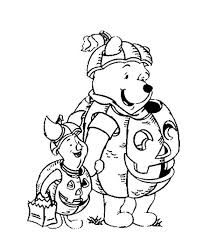 Pooh And Piglet Pumpkin Costume Disney Halloween Coloring Pages
