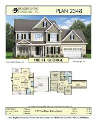 100 Picture Of Two Story House Plan 2348 THE ST GEORGE Plans Plans