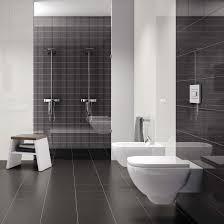 black bathroom floor tile white marble sink table white porcelain