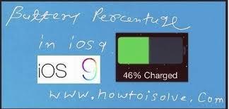 Enable Battery Percentage on iPhone iPad iOS 9 iOS 10 iOS 11