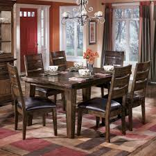 Signature Design By Ashley Larchmont Rectangular Dining Table And 6 Side Chairs