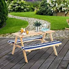nature all weather wicker patio kids picnic tablefolding bench