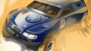 Purpose-Built Volkswagen-Red Bull Baja Race Touareg TDI Trophy Truck ...