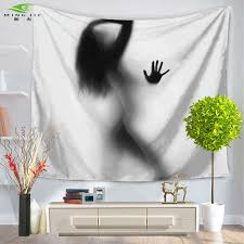 frauen und mann kunst gedruckt wand hangings boho schlafzimmer decor badezimmer versuchung tapisserie hippie 150x130 150x200 cm