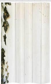abakuhaus duschvorhang badezimmer deko set aus stoff mit haken breite 120 cm höhe 180 cm rustikales holz pastell retro laub kaufen otto