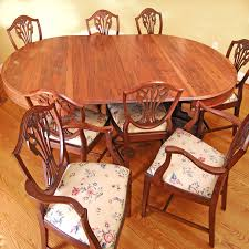 Empire Style Dining Table And Hepplewhite Chairs Set