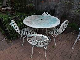 Meadowcraft Patio Furniture Glides by Vintage 1930 U0027s 1940 U0027s 9 Piece Wrought Iron Patio Furniture Set