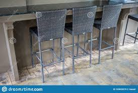 Woven Pattern High Chairs In Modern Style On Wood Floor ...