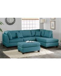 Poundex 3pc Sectional Sofa Set by New Year U0027s Savings On Poundex F7607 3 Pcs Teal Fabric Reversible