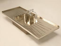 Sherle Wagner Italy Sink by Stellar Antique German Silver Sink W Faucet And Drainboards At 1stdibs