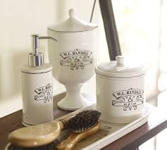 Pottery Barn Sea Glass Bathroom Accessories by Black U0026 White Apothecary Bath Accessories Pottery Barn