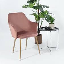 rosa samt esszimmerstuhl retro stuhl mit sessel armlehnstuhl