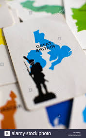 The Great Britain Card In Classic Board Game Of Risk