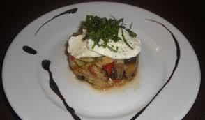 cuisine entr馥s froides légumes du sud pignons de pin et mozzarella bonheurs en bouche