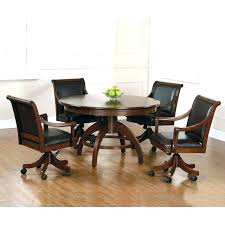 Dining Chairs With Wheels Attractive Mesmerizing Swivel Dining Room