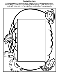 Stylish Design Thanksgiving Coloring Pages Crayola Frame Pilgrims Page