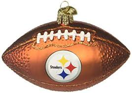 Old World Christmas Ornaments NFL Pittsburgh Steelers Football Glass Blown For Tree