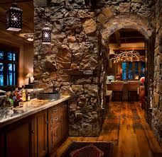 Rustic Man Cave Ideas Home Bar With Pendant Lighting Wet