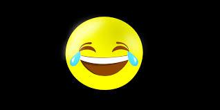 Laughing Emoji On Black Background