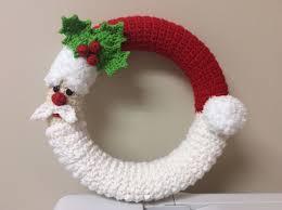Crochet Santa Wreath Tutorial Santa Decoration Winter Wreath