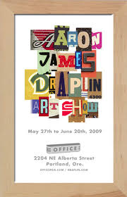 Draplin Design Co FOR IMMEDIATE RELEASE Aaron James Art Show
