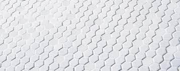 american olean satinglo white hexagon 1 inch hexagon glazed