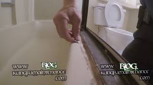 how to remove really bad tub shower door enclosure caulking repair