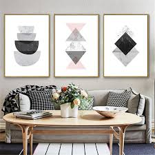 haochu modern painting canvas geometry background design print wall picture poster living room restaurant corridor home dec