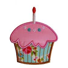 Cupcake and Cupcake with Candle applique designs by Big Dreams Embroidery