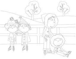 Charlie And Lola Ice Skating Coloring Page
