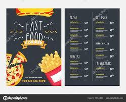 Diseño De Menú Online Tarjeta De Menú De Comida Rápida Diseño Con