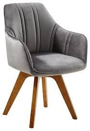 p dieser stuhl drehbar mit strong samtbezug in grau