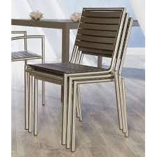 Brilliant Armless Outdoor Dining Chairs The Niko Side Chair Is A Cool Contemporary